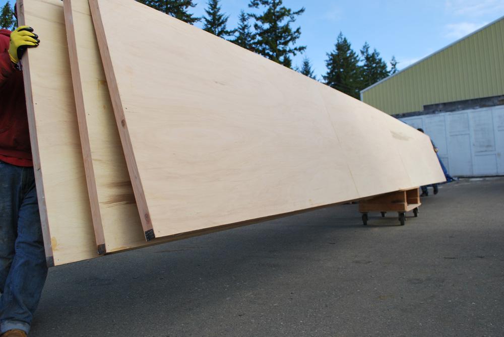 Curtain Wall | Non-warping patented wooden pivot door
