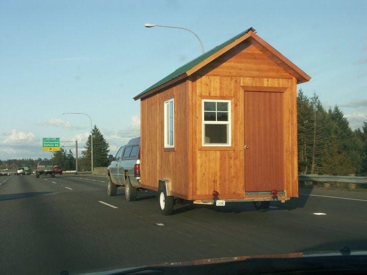 Tiny House On Wheels Lightweight High Strength Green