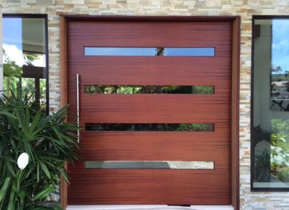 Insulated Non Warp Exterior Pivot Doors