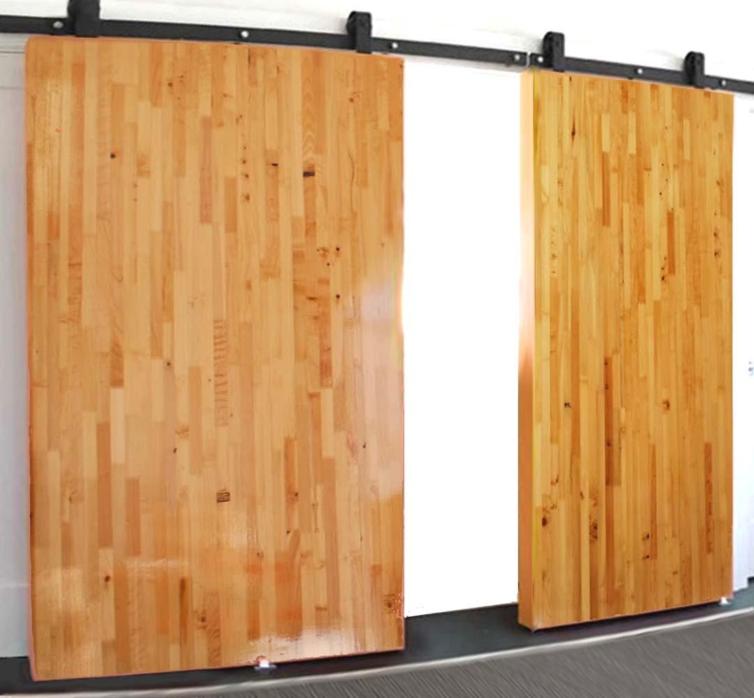 Butcher Block Non Warping Patented Wooden Pivot Door Sliding And Eco Friendly Metal Cores
